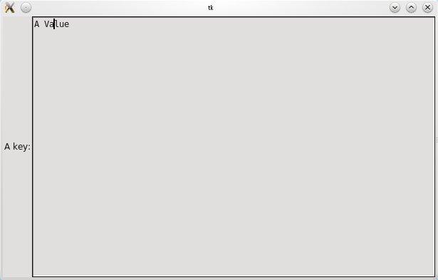 Minecraft Config Editor: Tkinter Text Widget and Frames